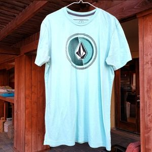 (3/$12) Volcom turquoise t shirt